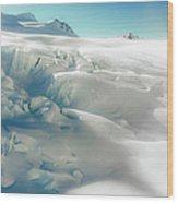 New Zealand - Dreamy Glacier Landscape Wood Print