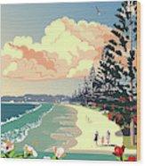 New Zealand Orewa Beach Wood Print