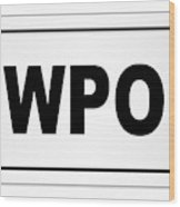 Newport City Nameplate Wood Print