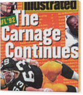 Nfl Football The Carnage Continues Sports Illustrated Cover Wood Print