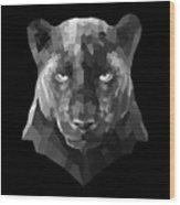 Night Panther Wood Print