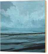 Night Sea Wood Print