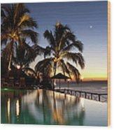 Nightfall At Iririki Island, Vanuatu Wood Print