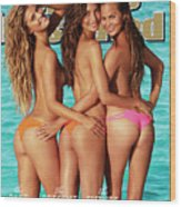 Nina Agdal, Lily Aldridge, And Chrissy Teigen Swimsuit 2014 Sports Illustrated Cover Wood Print