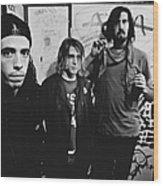 Nirvana Backstage Wood Print