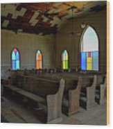 No More Sermons  Wood Print