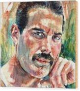 No One But You - Freddie Mercury Portrait Wood Print