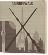 No1042 My The Crimes Of Grindelwald Minimal Movie Poster Wood Print