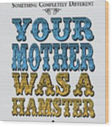 No15 My Silly Quote Poster Wood Print