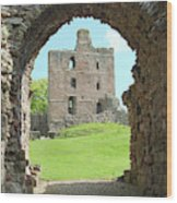 Norham Castle And Entrance Gate Wood Print