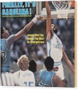 North Carolina James Worthy, 1982 Ncaa National Championship Sports Illustrated Cover Wood Print