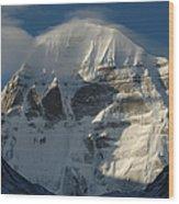 North Face Of Mount Kailash Gang Wood Print