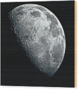 North Pole Of The Earths Moon Wood Print