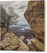 North Rim Fog 1 - Grand Canyon National Park - Arizona Wood Print