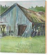 Northern State Farm, Skagit Valley Wood Print