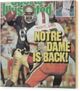 Notre Dame Is Back Tony Rice Leads The Irish Past No. 1 Sports Illustrated Cover Wood Print