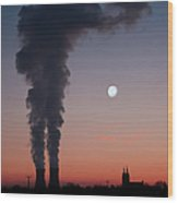Nuclear Power Station In Bavaria Wood Print