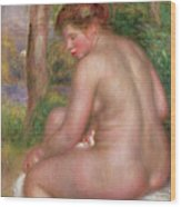 Nude, Back View, 1911 Wood Print
