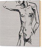 Nude Model Gesture Xxi Wood Print