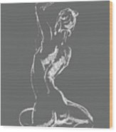 Nude Model Gesture Xxviii Wood Print