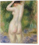 Nude Wading, Circa 1880 Wood Print