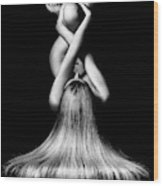 Nude Woman Bodyscape 2 Wood Print