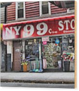 Ny 99 Cent Store Brooklyn  Wood Print