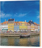Nyhavn District Is One Of The Most Wood Print