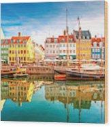 Nyhavn, Kopenhagen Wood Print