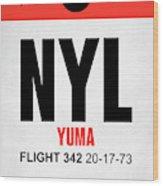 Nyl Yuma Luggage Tag I Wood Print