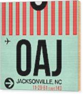 Oaj Jacksonville Luggage Tag I Wood Print