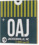 Oaj Oaj Jacksonville Luggage Tag I Luggage Tag I Wood Print