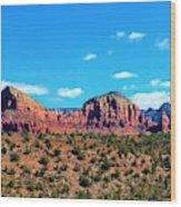 Oak Creek Jack's Canyon Blue Sky Clouds Red Rock 0228 3 Wood Print