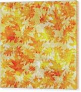 Oak Leaf Pattern Wood Print
