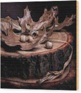 Oak Tree Still Life Wood Print