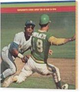 Oakland Athletics Bert Campaneris, 1973 World Series Sports Illustrated Cover Wood Print