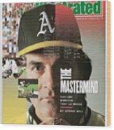 Oakland Athletics Manager Tony La Russa Sports Illustrated Cover Wood Print