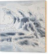 Ocean Rising Wood Print