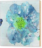 Oceanbreeze Blue-green Windflower Wood Print