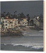 Oceanside California Beach Front Wood Print