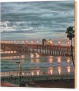 Oceanside Pier At Dusk Wood Print