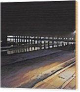 Oceanside Pier At Night  Wood Print