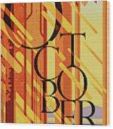 October In Michigan Wood Print