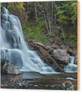 October Morning At Bastion Falls II Wood Print