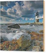 October Morning At Marshall Point Wood Print