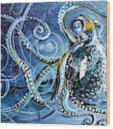 Octopus Of Nine Brains Wood Print