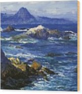 Off Mission Point Aka Point Lobos Wood Print