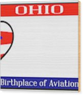 Ohio License Plate Wood Print