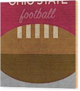 Ohio State Football Minimalist Retro Sports Poster Series 003 Wood Print