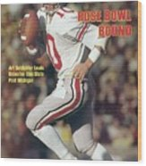 Ohio State Qb Art Schlichter... Sports Illustrated Cover Wood Print
